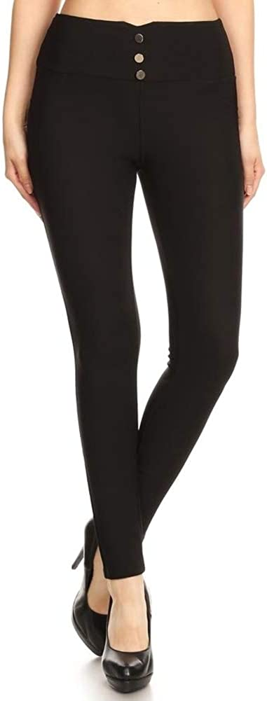 ShoSho Womens Skinny Pants Slim Fit Trousers with Pockets and Zippers Treggings Dressy Bottoms