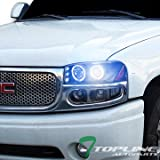 yukon denali fog lights xenon - Topline Autopart 10000K Hid Xenon Black Halo Led Projector Head Light+Bumper 00-06 Gmc Yukon Denali