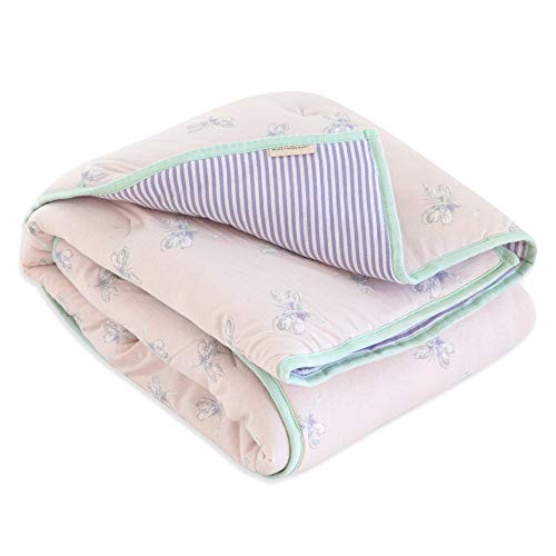 Burt's Bees Baby - Reversible Quilt, Baby and Toddler Nursery Blanket, Organic Cotton Shell & Polyester Fill (Dragon Fly)