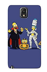 Perfect Fit UtJSBYS2200jeAUu For Halloween Cenery Cartoon The Impson Logo The Impsons Case For Galaxy - Note 3