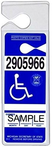 SecurePro Products Super Heavy-Duty Handicap Placard Protective Plastic Holder Sleeve for Disabled Parking Permits by SecurePro Products