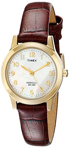 Dress Indiglo Watch (Timex Women's Dress Watch Style # T21693 Elevated Classics Burgundy Leather Strap)