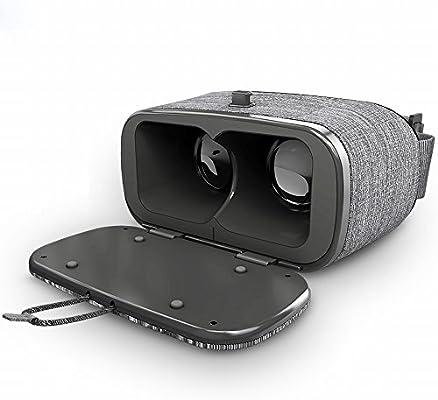 LUO VR Gafas RV Realidad Virtual 3D Teléfono Móvil Dedicado, Ar una Máquina Tormenta 4D Google Ojos Espejo Mágico 5 Generación,Gris,Un tamaño