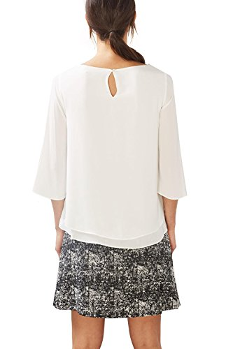 Collection Blouse ESPRIT Off White Femme Blanc d554wxqB