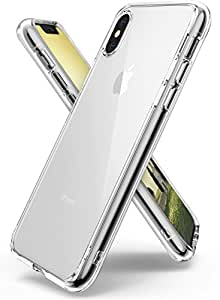 Ringke [FUSION] Apple iPhone X Case, Clear Transparent PC Back TPU Bumper [Drop Defense] Raised Bezels Scratch Protection Natural Form Qi Wireless Charging Compatible Cover for Apple iPhone 10-Clear