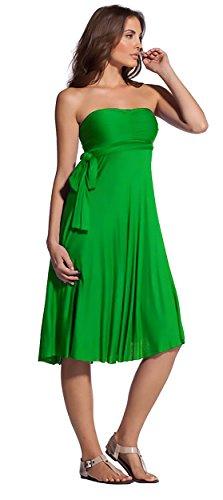 Elan International 8-way Convertible Dress Skirt Large Emerald