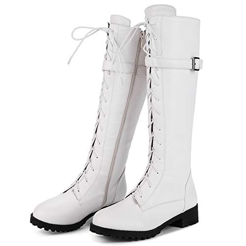 Coolcept White Low Boots Mid Women Calf Zipper Heel rPRw0rqxa