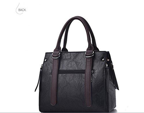 Meaeo black A Coreano De Moda Sacos Satchel Negro Granel Bolso Casual Bolso Bolso De Or6OqBwxa