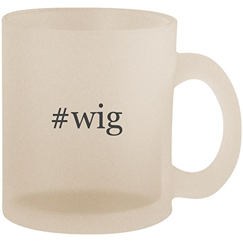 #wig - Hashtag Frosted 10oz Glass Coffee Cup Mug ()