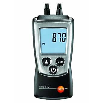 Testo 510 dual input (0 - 100 mbar) differential manometer