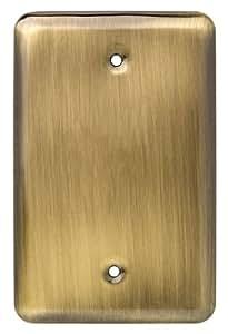 Franklin Brass 126440 Stamped Steel Round Single Blank Wall Plate, 1 per pkg