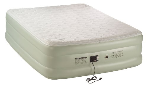 Coleman Premium Double-High Quickbed With Pillow Top and Built-In Pump, Queen, Outdoor Stuffs