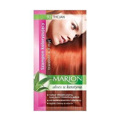 Marion Hair Color Shampoo in Sachet - Lasting 4-8 Washes - With Aloe &...