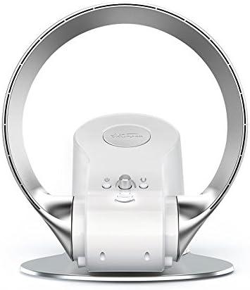 Ventilador sin Hojas/Ventilador sin Aspas, Control Remoto Flujo de Aire del Ventilador de Enfriamiento, Ventilador sin Techo Vertical Montado en la Pared, Dormitorio de Oficina,Silver,110V