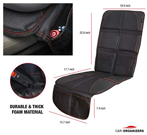 Car Seat Protector With Thick Padding For Under Baby Booster Backseat Organizer Kick Mat