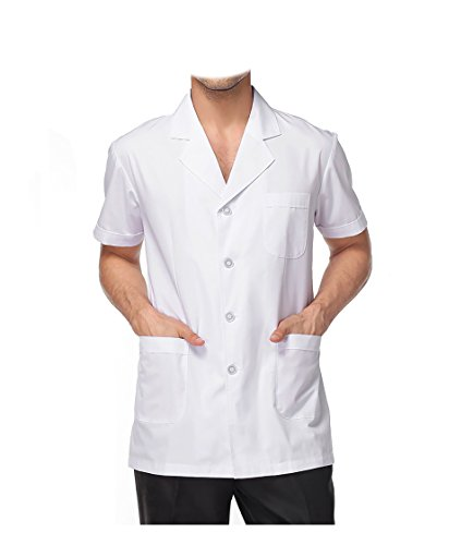 WDF lab coat medical coat work uniforms men short sleeve short paragraph