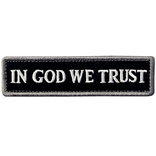 EmbTao In GOD We Trust Embroidered Tactical Morale Fastener