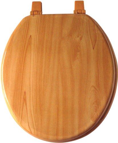 Home Dynamix VWO-551 Veneer Wood Toilet Seat, 17-Inch, (Wood Veneer Toilet Seat)