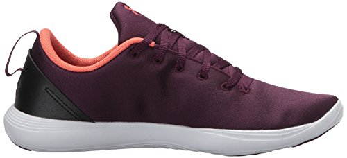 Under Armour Womens Street Precision Sport Shoe,Merlot/White/Vermillion,8 B(M) US