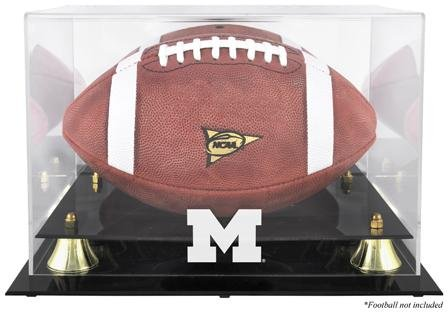 Michigan Wolverines Golden Classic Logo Football Display Case