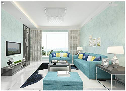 Light Blue Wallpaper Stripe (Wall Non-Woven Mural Wallpaper Textured Nostalgic Retro Light Blue Bedroom Modern Livingroom Background)