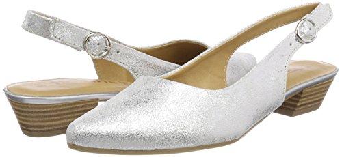 Metall Women''s Sandals Tamaris Back Sling silver Silver 29400 UBcx7q0fR