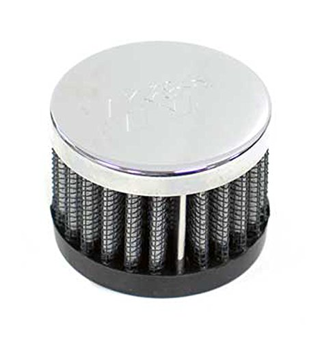 K&N 62-1220 Vent Air Filter / Breather: Vent Air Filter/ Breather; 1 in (25 mm) Flange ID; 1.5 in (38 mm) Height; 2 in (51 mm) Base; 2 in (51 mm) (38mm Flange)