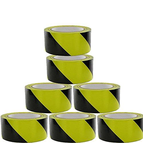 1X TAHA Roll BLACK//YELLOW Adhesive Hazard Warning Barrier SAFETY Tape 50mm 33m