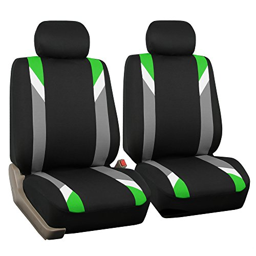 FH GROUP FH-FB033102 Premium Modernistic Seat Covers Green / Black- Fit Most Car, Truck, Suv, or Van (Honda Green Car)