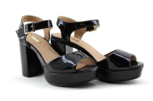 5506701a008ad ... Modelisa - Sandalias Sintético Hebilla Tacon Mujer Negro