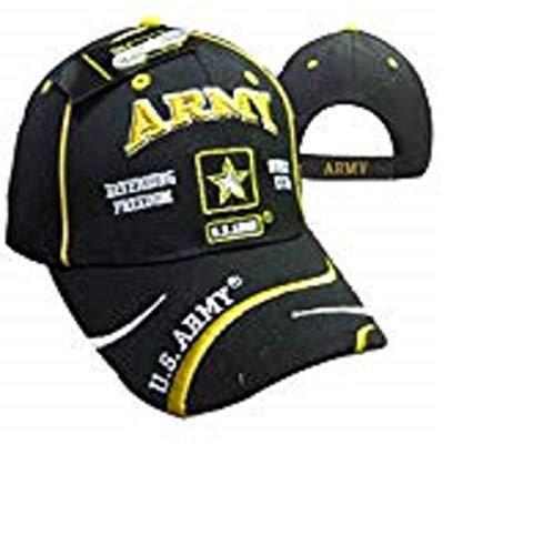 - K's Novelties U.S. Army Star Defending Since 1775 Freedom Swirl Black Embroidered Cap Hat