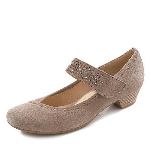 Gabor 45.420.17 - Zapatos de vestir de Piel para mujer Negro negro 38 Visone