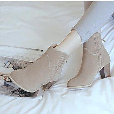 Damen Schuhe Nubukleder PU Herbst Komfort Stiefel Normal Für Normal Stiefel Schwarz Beige Kamel beige 16cb40
