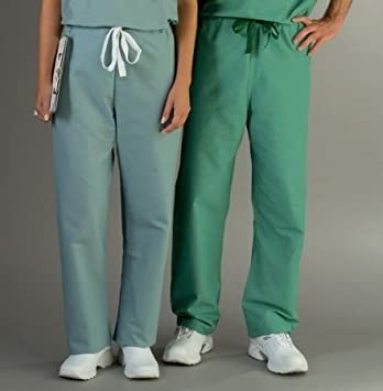 Amazon.com: Encore Unisex Reversible Drawstring Scrub Pants,Jade ...