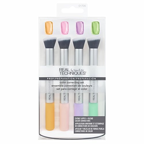 Real Techniques-Color Correcting Set-Makeup Brush Set-Cancel Sallowness, Conceal Darkness, Neutralize Redness, Brighten (Best Color Correcting Makeup)