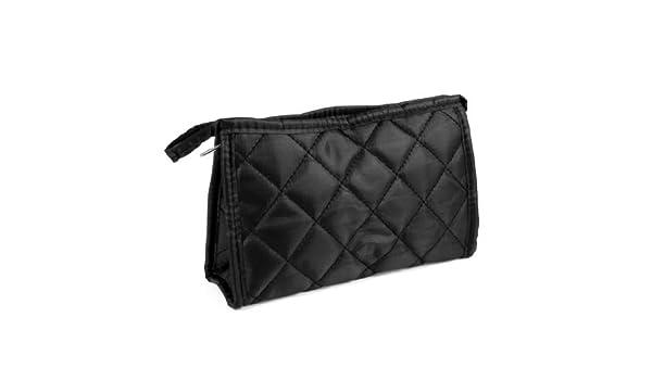 Amazon.com: eDealMax Negro Rombo Impreso Zip up Rectangular cosmética del monedero del bolso del organizador del maquillaje: Health & Personal Care