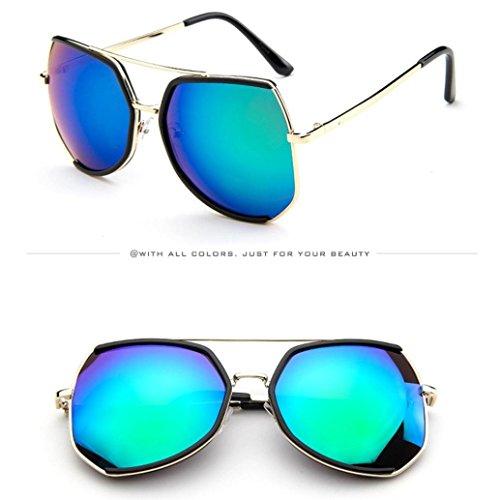 Unisexe Cadre UV Femmes Soleil Hommes Pilotes B Rappeur Lunettes Soldes Grand Eyewears de Soleil Protection Rétro de Vintage Été Lunettes des Irrégulier zYO04wqx
