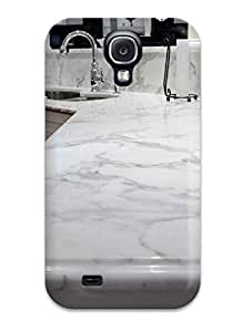 Hot BkxgzeX6893aIkco Case Cover Protector For Galaxy S4- Calacatta Gold Marble Kitchen Countertops And Backsplash