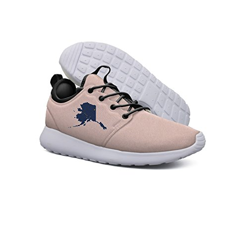 Price comparison product image AKDJDS Flag And Map Of Alaska Women's Sports Running Shoe Training Shoe