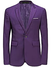 Amazon.com: Purple - Suits & Sport Coats / Clothing: Clothing ...