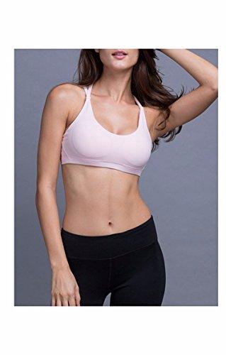 Bien Cross - Belt Fitness Yoga Ropa Interior Sujetador De Nuevo Choque La Velocidad De Aire Seco light pink