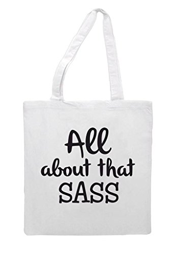 Sass Bag Cute All Statement That Shopper Sassy White About Tote Sublimation awq8EqHn7