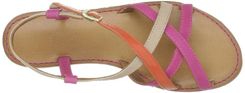 Tommy Hilfiger Julia 15 a, Women's Sandals Red - Rot (Red Orange/Bright Pink 646)