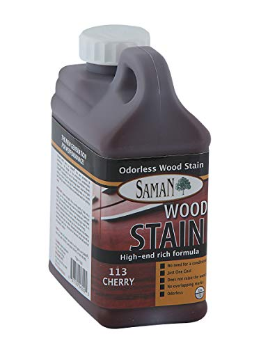 SamaN Interior Water Based Stain for Fine Wood, Cherry, 1 Quart