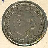 Spanish Coin 5 Pesetas General Franco Minted 1957