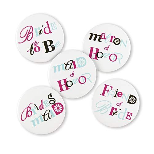 (Hortense B. Hewitt Wedding Accessories Bachelorette Buttons, Set of 12)