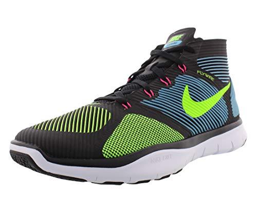 NIKE Free Train Instinct Black/Gamma Blue/Hyper Pink/Electric Green Men's Cross Training Shoes Size 10