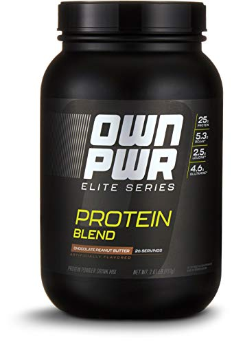 OWN PWR Elite Series Protein Powder, Chocolate Peanut Butter, 2 lb, Protein Blend (Whey Isolate, Milk Isolate, Micellar Casein)