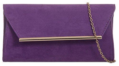 Hautefordiva moyen violet femme Bleu marine Pochette pour zPqzS8