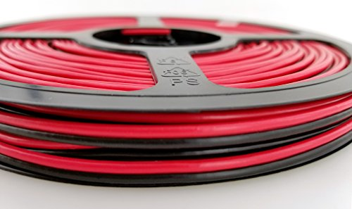 Black Conductor (18 Ga (True American Wire Gauge) Copper Clad Aluminum Red/Black 2 Conductor Bonded Zip Cord Power / Speaker Cable for Car Audio, Home Theater, LED strip Light. 70' Red / 70' Black (140 FT total))